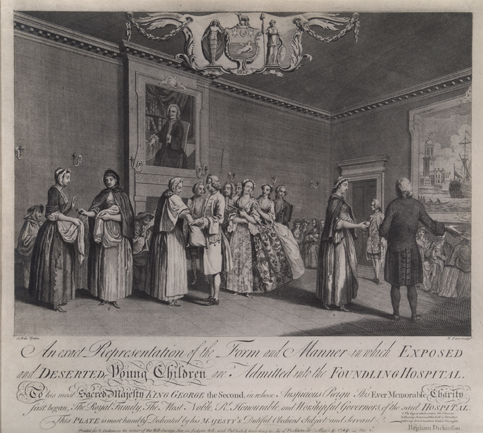 Admission_to_the_Foundling_Hospital_by_Ballot_etching_by_Nathanial_Parr_after_painting_by_Samuel_Wale__Coram_in_the_care_of_the_Foundling_Museum
