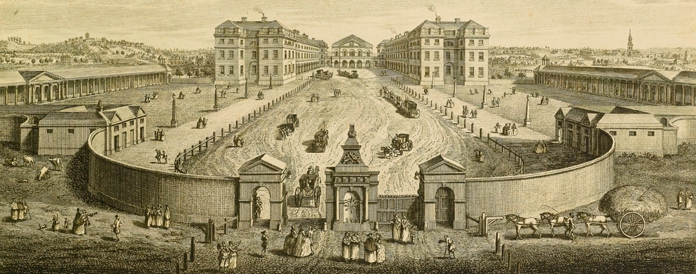 The_Foundling_Hospital_a_birds_eye_view_1753_engraving_by_T.Bowles_after_L.P.Boitard__Coram_in_the_care_of_the_Foundling_Museum